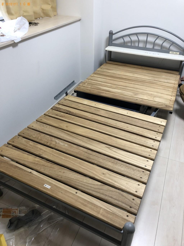 【越生町】シングルベッドの出張不用品回収・処分ご依頼 お客様の声