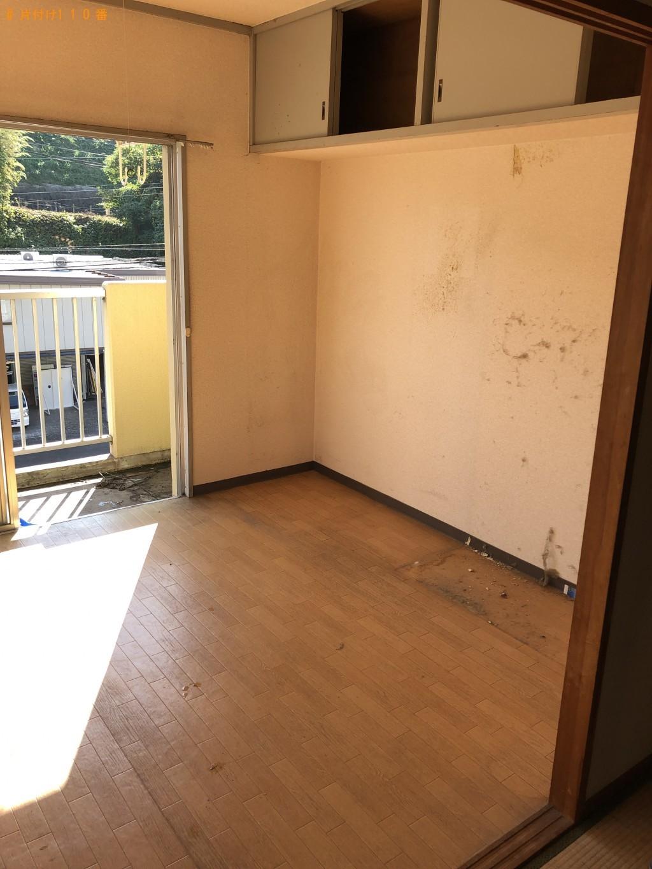 【豊能町】遺品整理に伴い冷蔵庫、食器棚、タンスなどの出張不用品回収・処分ご依頼