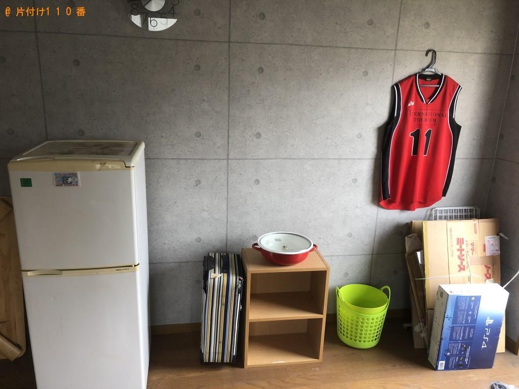 【別府市幸町】冷蔵庫、洗濯機、カラーボックス、鍋等の回収