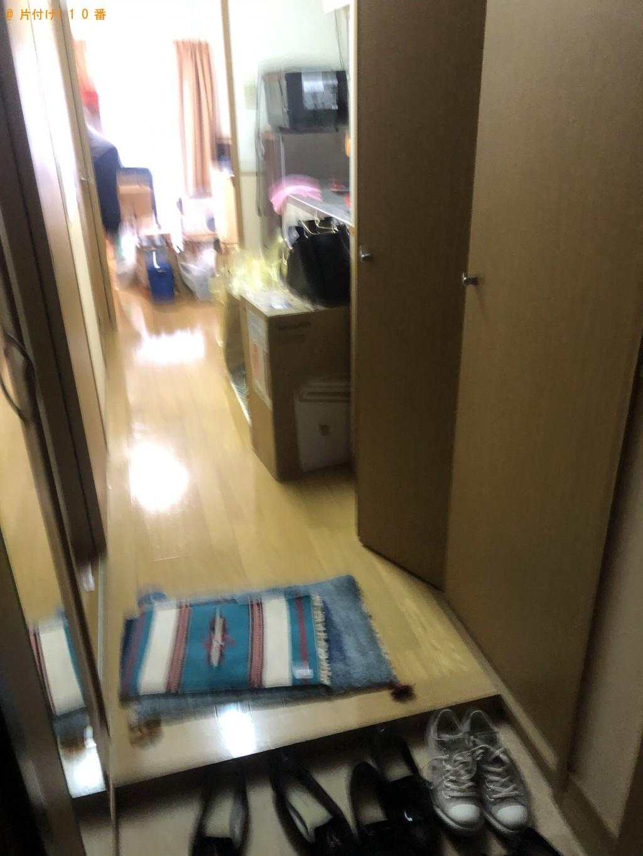 【大分市中央町】折り畳みテーブル、カラーボックスの回収・処分