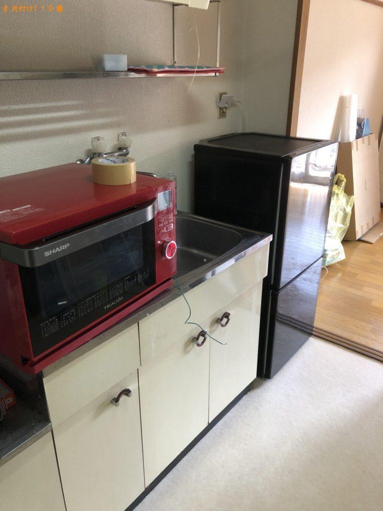 【八王子市】遺品整理で冷蔵庫、洗濯機、電子レンジ、シングルベッド等の回収