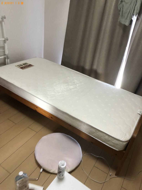 【大分市】スタンドミラー、カラーボックス、シングルベッド等の回収