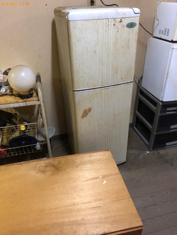 【大分市】冷蔵庫、テレビ、洗濯機、食器棚、ガラステーブル等の回収