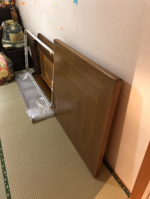 【大分市千代町】四人用ダイニングテーブル、椅子、鏡台等の回収