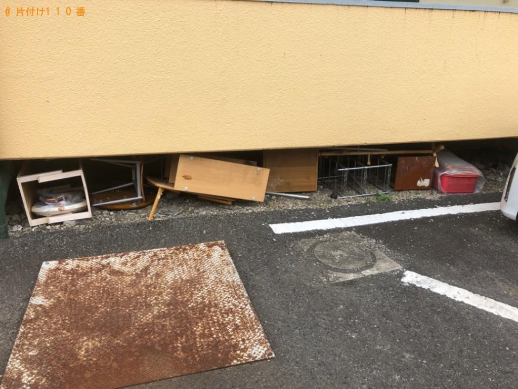 【大分市新春日町】ガラステーブル、鏡台、椅子等の回収・処分ご依頼