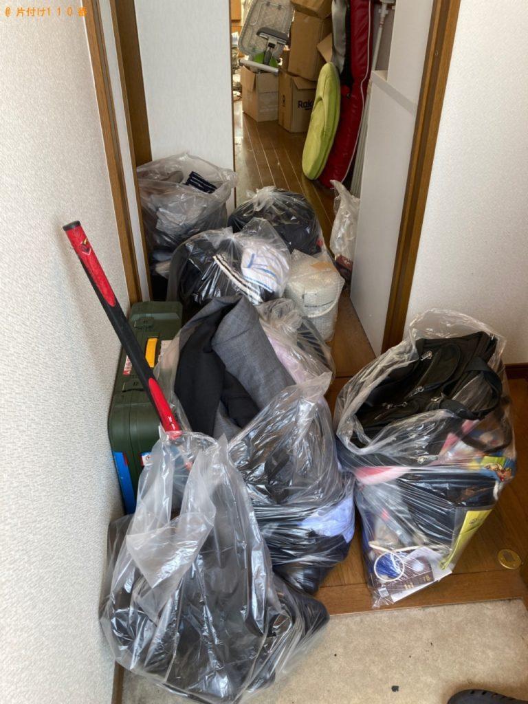 【習志野市】健康器具、座椅子等の回収と部屋の簡易清掃ご依頼