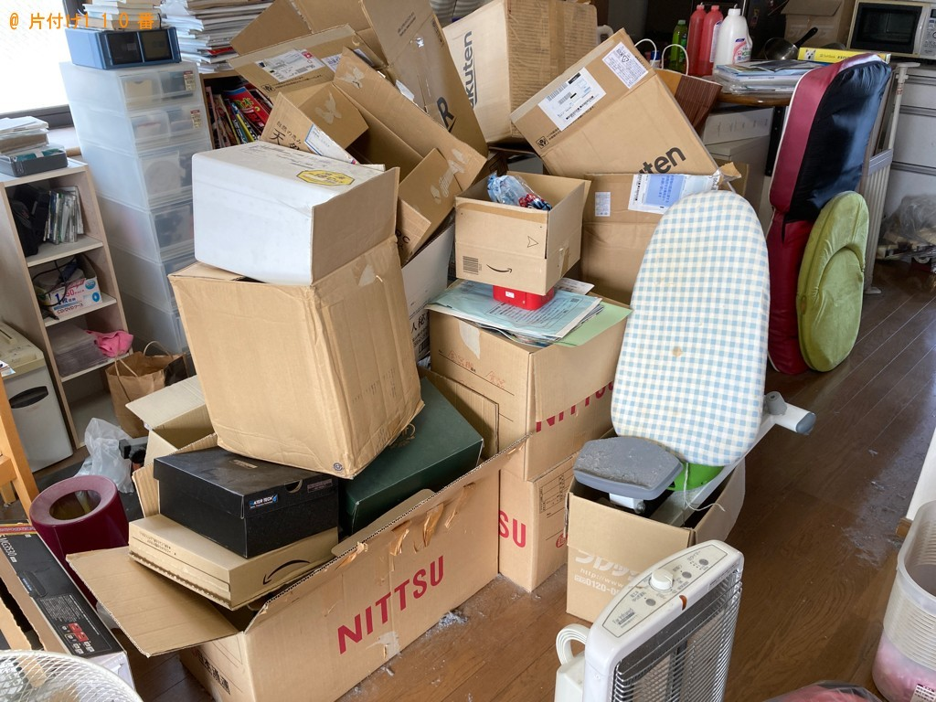 【大分市】健康器具、座椅子等の回収と部屋の簡易清掃ご依頼