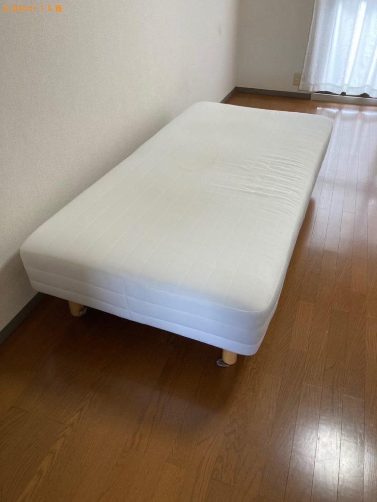 【木曽岬町】シングルベッド(マットレス付)の回収・処分ご依頼