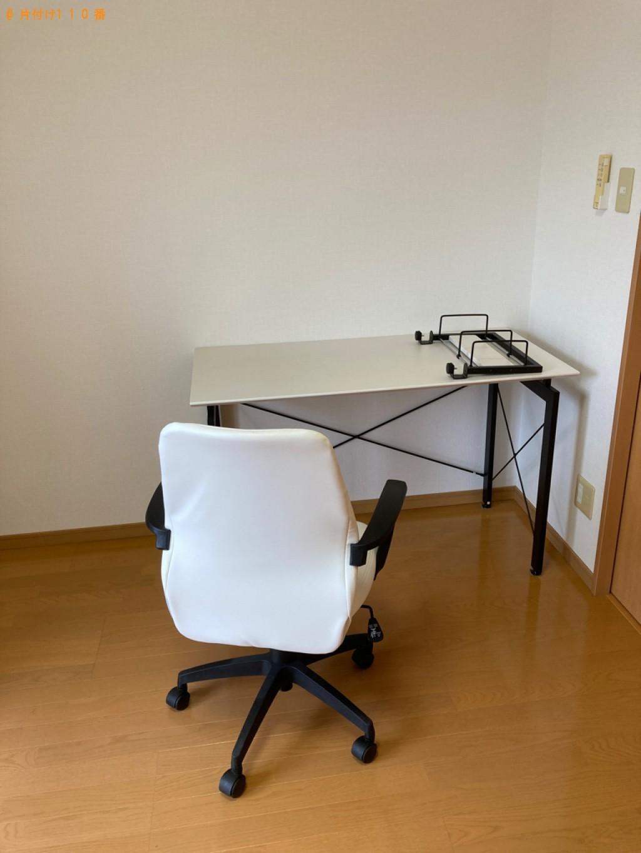 【大分市】シングルベッドマットレス、PCデスク、椅子等の回収