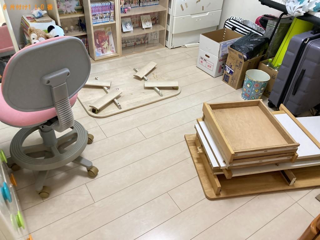 【大分市】タンス、ガラステーブル、本、家財道具等の回収・処分