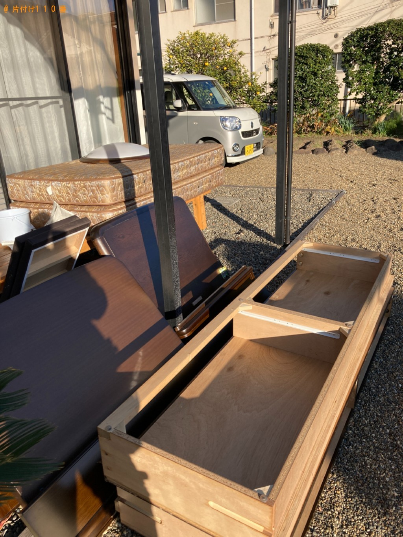 【大分市錦町】マットレス付きシングルベッドの回収・処分ご依頼