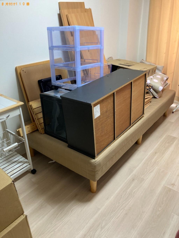 【大分市】テレビ、こたつ、マットレス付きシングルベッド等の回収