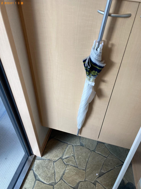 【別府市幸町】冷蔵庫、PCデスク、簡易靴棚の回収・処分ご依頼