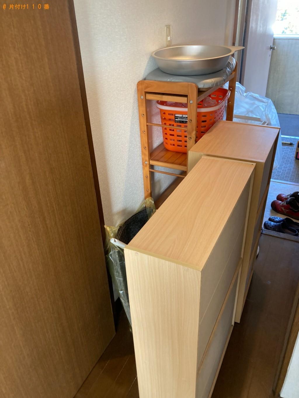 【大分市】冷蔵庫、スタンドミラー、ソファーベッド、ラック等の回収