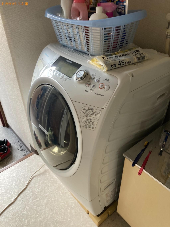 【大分市仲西町】洗濯機、こたつ、シングルベッド、テレビ台等の回収