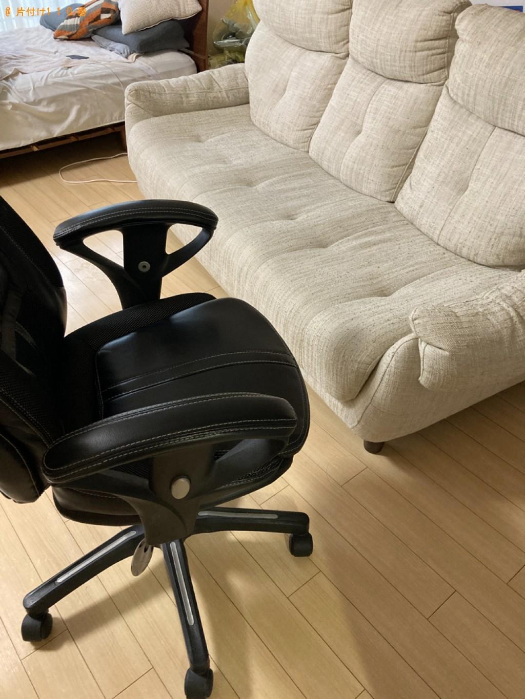 【大分市新町】ソファー、椅子、ラック、ローテーブル等の回収・処分