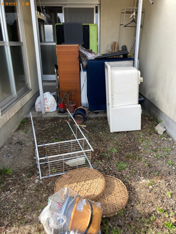 【大分市】冷蔵庫、ラック、椅子、バケツ、鉢植え、家具等の回収