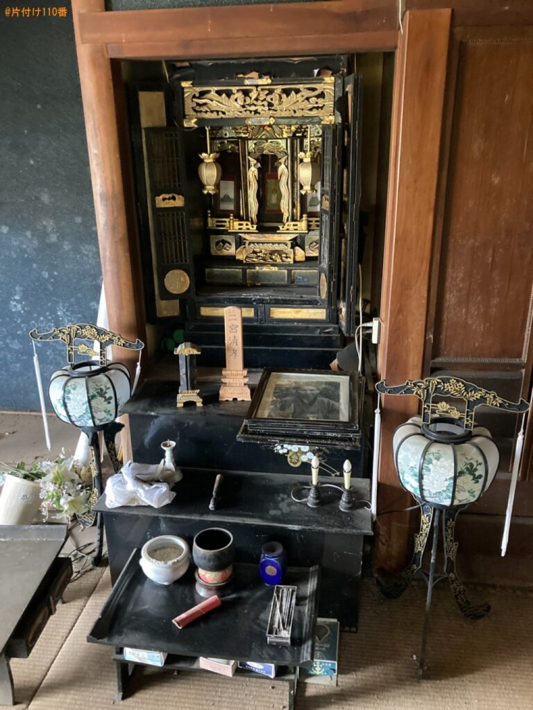 仏壇、お位牌、遺影の回収・処分ご依頼 お客様の声