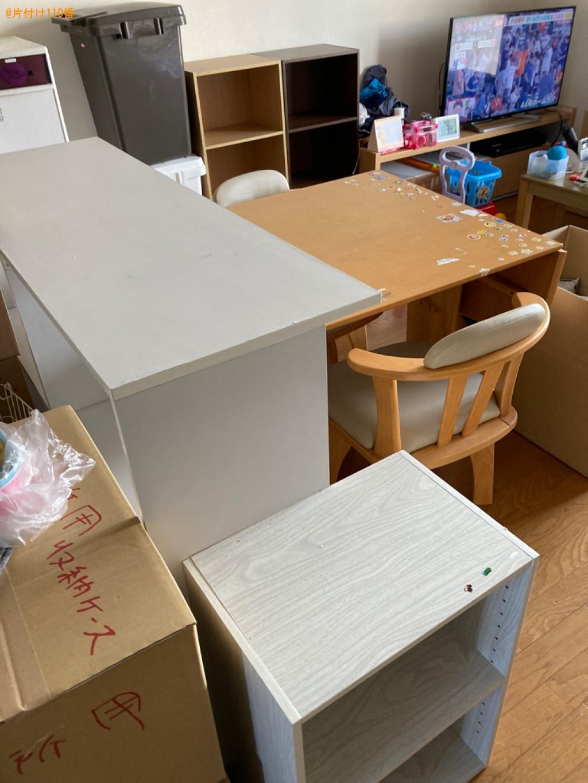 【大分市】ラック、テーブル、椅子、カラーボックス、ゴミ箱等の回収
